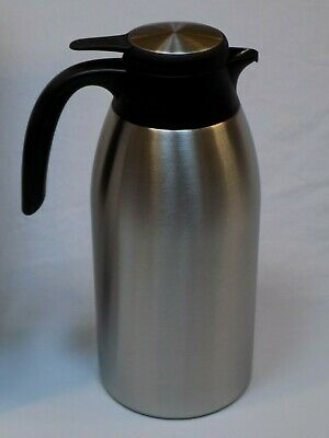 NEW Service Ideas 2.0 Liter SteelVac Brushed Stainless Flow Control Carafe FCC20
