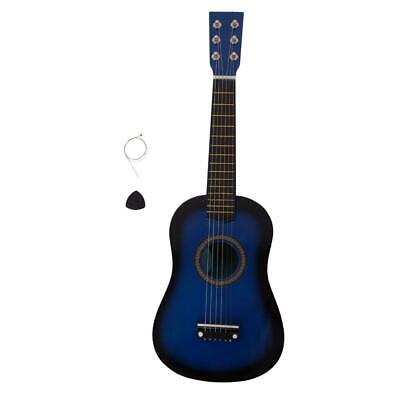 BCP 23in Beginner Acoustic Guitar Musical Instrument Kit W / Pick Strings Blue