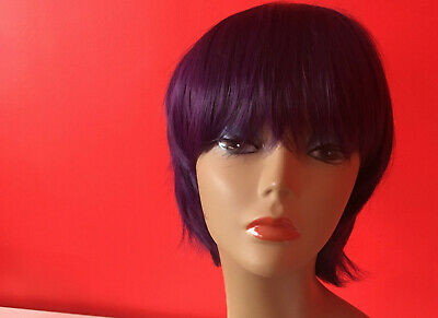 963ff7a4136b0d Real Sexy Ladies Short Hair Wigs Boycut Pixie Cropped Curly Style Full Head  Wig.