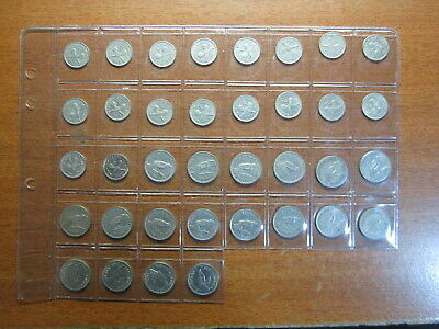 New Zealand Threepence & Sixpence Sets 1947 TO 1965 VG TO Extra Fine++ 36 Coins