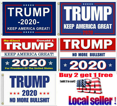 Trump 2020 Keep America Great President MAGA Make America Great 3x5 Ft Flag ~om