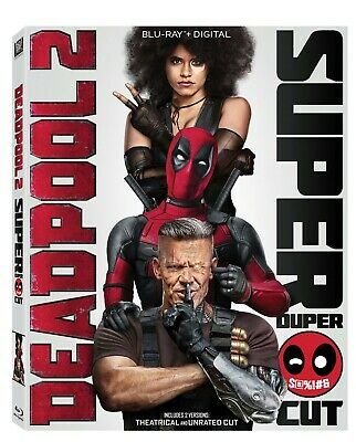 Deadpool 2 - Blu-Ray + Digital - Super Duper Cut 2 Disc w/ SLIPCOVER New Sealed
