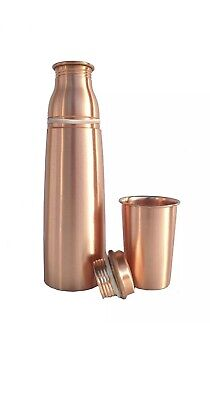 SECONDS Pure copper  Water Bottle Flask 950ml With Glass 200ml UK Seller