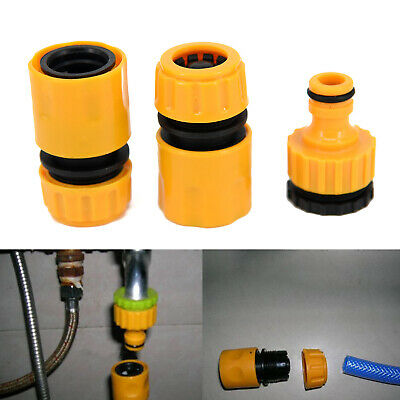 3* Garden Car Water Hose Pipe Tap Connector Connection Fitting Adapter Hose Pipe