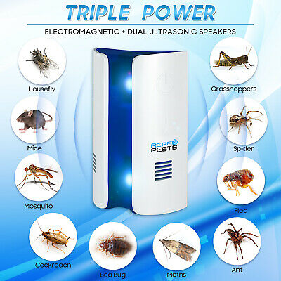 Ultrasonic Pest Control Repeller Reject Rat Mouse Mice Spider Multifunction Use