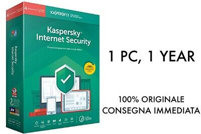 Kaspersky Internet Security 2019, 1 PC, 1 Anno,  GLOBAL, ESD