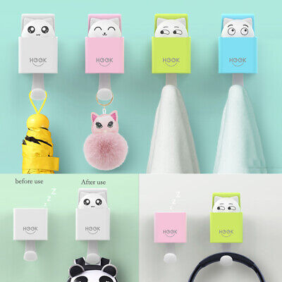 Cute Cat Wall Mounted Stainless Steel Storage Hook Storage Sticky Hooks