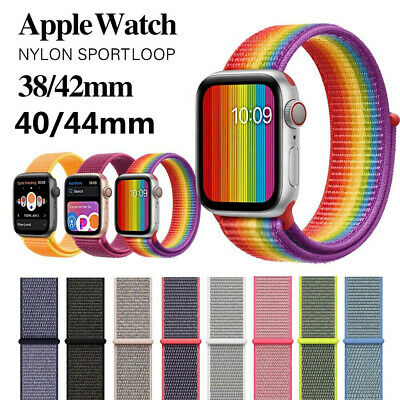 Nylon Woven Sport Loop Band Strap For Apple Watch iWatch Series 4/3/2/1 38/42mm