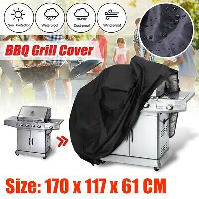 Heavy Duty Oxford BBQ Cover Waterproof Medium Barbecue Grill Outdoor Protector