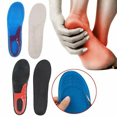 Gel Silicon Insoles UK Quality New Orthotic Arch Support Massaging Ortho TU