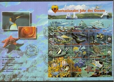 [D16_549] 1998 - VN/UNO Vienna FDC Mi. 252-263 - International Year of the ocean