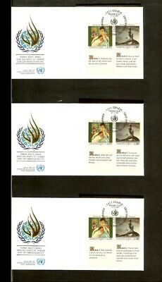 [A18_05] 1989 - VN/UNO Geneva FDC Mi. 180-181 (3x) - Human rights series 1989