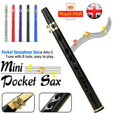 Mini Portable Pocket Bb Saxophone Sax Woodwind Instrument with Carrying Bag New