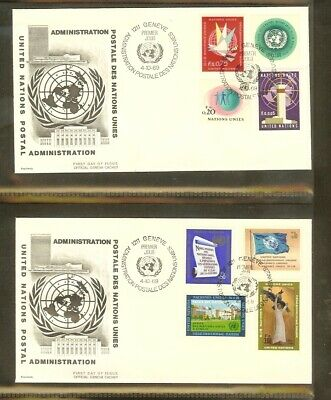 [A17_01] 1969 - VN/UNO Geneva FDC Mi. 1-8 (2) - Definitive series