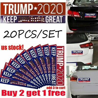 20Pcs Donald Trump Bumper Sticker 2020 Keep America Great - Buy 2 get 1 free