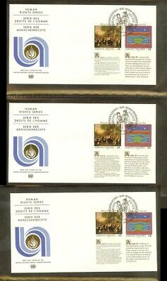 [A15_080] 1993 - VN/UNO Vienna FDC Mi. 150-151 (3xseries) - Human rights series