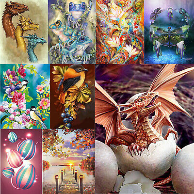 5D DIY Full Drill Diamond Painting Animals Balloon Cross Stitch Embroidery Decor