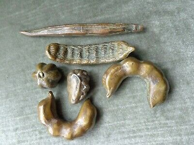 Vintage  Asian  Collection  Bronze  Seed Pods / Fruits / Nuts
