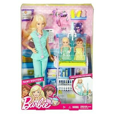 Barbie Careers Baby Doctor Doll and Playset. FREE POSTAGE