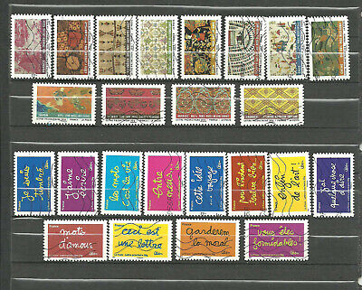 LOT   TIMBRES  DE FRANCE    AUTOADHESIFS 2010 2 serie completes