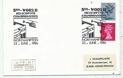 TIMBRE  AVION AVIATION 5th WORLD HELICOPTER CHAMPIONSHIPS NORTHAMPTON 1986