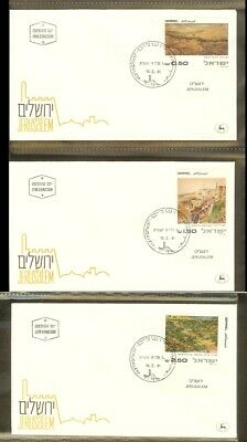 [D04_14] 1981 - Israel FDC Mi. 843-845 - Paintings from Jerusalem