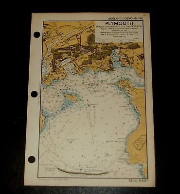 PLYMOUTH, Devon, Detailed WW2 Naval Military Map 1943