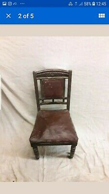 Antique Victorian Chair With Castors