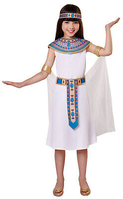 Egyptian Queen Cleopatra Girls Kids Fancy Dress Ancient History Costume 3-11