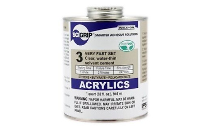 SCIGRIP WELD-ON #3 ACRYLIC CEMENT GLUE / WATER THIN / QUICK DRY / 473ml USA MADE