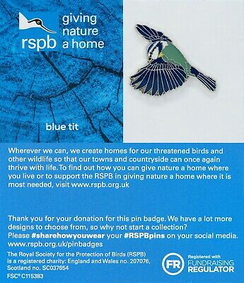 RSPB Pin Badge | flying blue tit GNAH BLUE (01456)