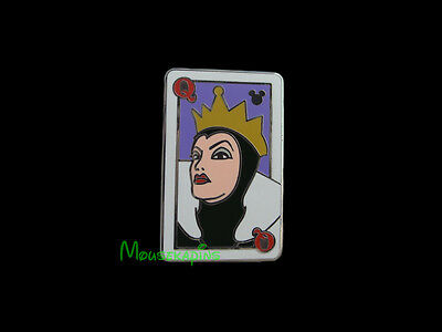 Snow White EVIL QUEEN PLAYING CARD Disney 2014 Pin