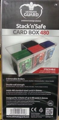 Ultimate Guard Stack'n'Safe Card Box 480 - Kartenbox für TCG Karten Decks