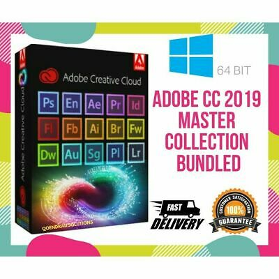 Adobe MASTER COLLECTION CC 2019 🔥 Delivery🔥FOR Illimitation PC Multilingual