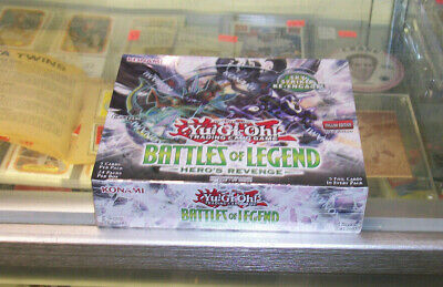 Yu Gi Oh Battles Of Legend Hero's Revenge 1St Edition Sealed Booster Box