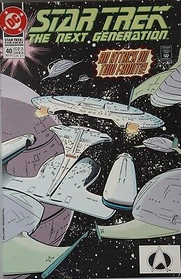 STAR TREK: THE NEXT GENERATION # 50 - DC COMICS- An Attack on two fronts! Nov 93