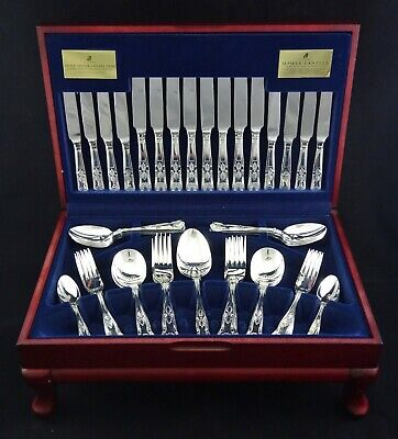 Viners Embassy Canteen Kings Pattern Royale 58 Piece Guild Silver 8 Settings
