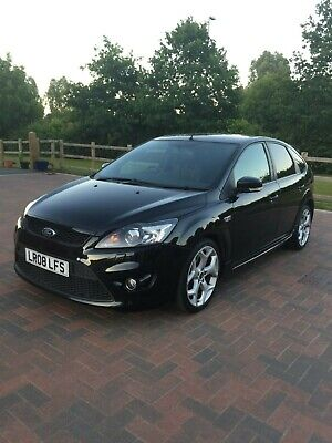 2008 08 Ford Focus St3 In Black 12 Months Mot Only 88K With 6 Service Stamps