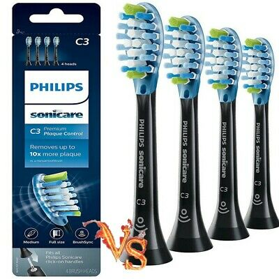 4x Philips Sonicare C3 Plaque Control Replacement Toothbrush Heads NOT GENUINE