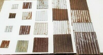 (#12) 20 pc.RECLAIMED CORRUGATED METAL TIN ROOFING PANELS