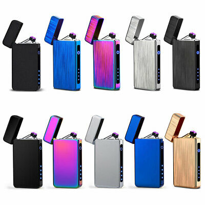 Windproof USB Electric Lighter Rechargeable Cigarette Smoking Touch Flameless