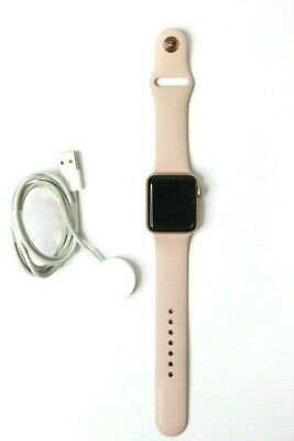 AS IS Apple Watch A1861 Series 3 GPS+LTE 42MM Rose Gold *READ DESCRIPTION*