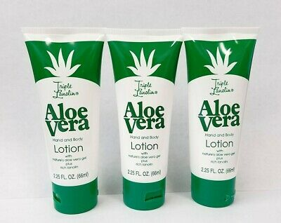 Triple Lanolin Hand and Body Lotion ~ ALOE VERA 3x66ml/2.25Fl.Oz ~