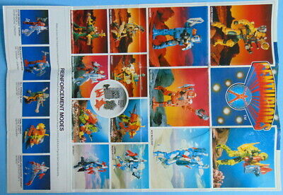 Nostalgic KENNER TOYS CENTURIONS fold-out WILD WEASEL picture reference leaflet