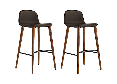 Fine Dwr Design Within Reach Kff Leather Set Of 2 White Antica Onthecornerstone Fun Painted Chair Ideas Images Onthecornerstoneorg