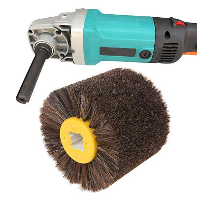 Horsehair Brush Abrasives Tool Round Grinding Woodworking Buffing Supplies
