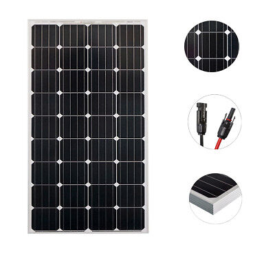 12V  250W Solar Panel Monocrystalline Caravan Boat Camping Battery Power Charge