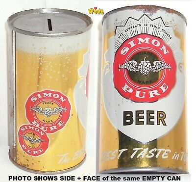 WILLIAM SIMON PURE BUFFALO,NEW YORK BEST TASTE in TOWN BANK FLAT TOP NY BEER CAN