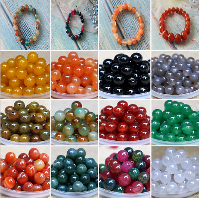 50Pcs 8mm Round Spacer Loose Beads Jewelry Making Wholesale Natural Gemstone New