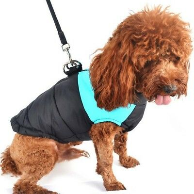 Winter Apparel Dog Jacket Padded Waterproof Pet Clothes Warm Vest Coat Winter